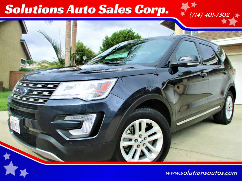 2017 Ford Explorer for sale at Solutions Auto Sales Corp. in Orange CA