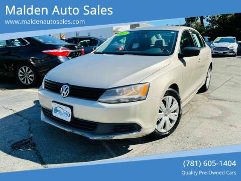 2012 Volkswagen Jetta for sale at Malden Auto Sales in Malden MA