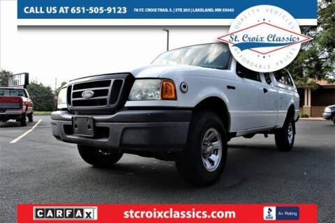 2004 Ford Ranger for sale at St. Croix Classics in Lakeland MN