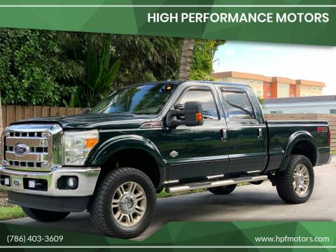 2011 Ford F-250 Super Duty for sale at HIGH PERFORMANCE MOTORS in Hollywood FL