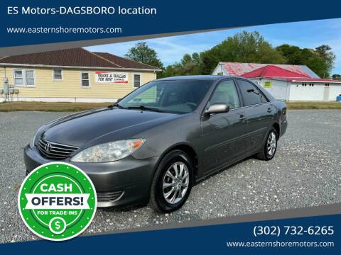 2005 Toyota Camry for sale at ES Motors-DAGSBORO location in Dagsboro DE