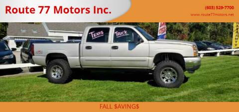 2006 Chevrolet Silverado 1500 for sale at Route 77 Motors Inc. in Weare NH