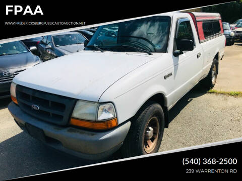 1999 Ford Ranger for sale at FPAA in Fredericksburg VA