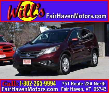 2013 Honda CR-V for sale at Will's Fair Haven Motors in Fair Haven VT