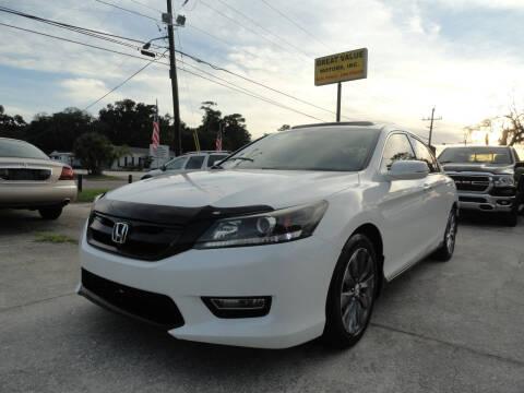 2013 Honda Accord for sale at GREAT VALUE MOTORS in Jacksonville FL
