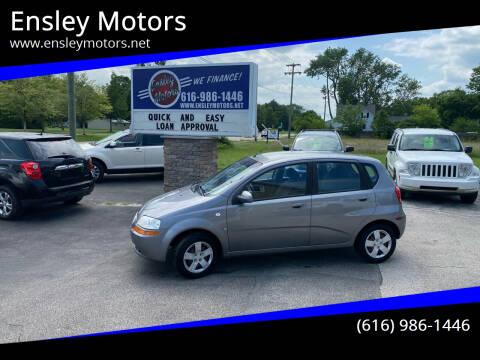 2007 Chevrolet Aveo for sale at Ensley Motors in Allendale MI
