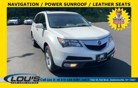 2011 Acura MDX for sale at LOU'S CAR CARE CENTER in Baldwinsville NY