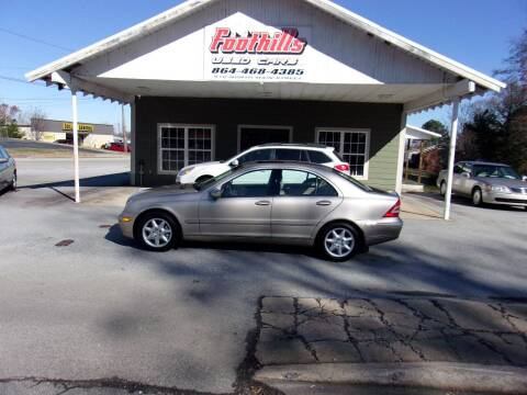 2002 Mercedes-Benz C-Class for sale at Foothills Used Cars LLC in Campobello SC