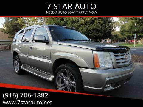 2003 Cadillac Escalade for sale at 7 STAR AUTO in Sacramento CA