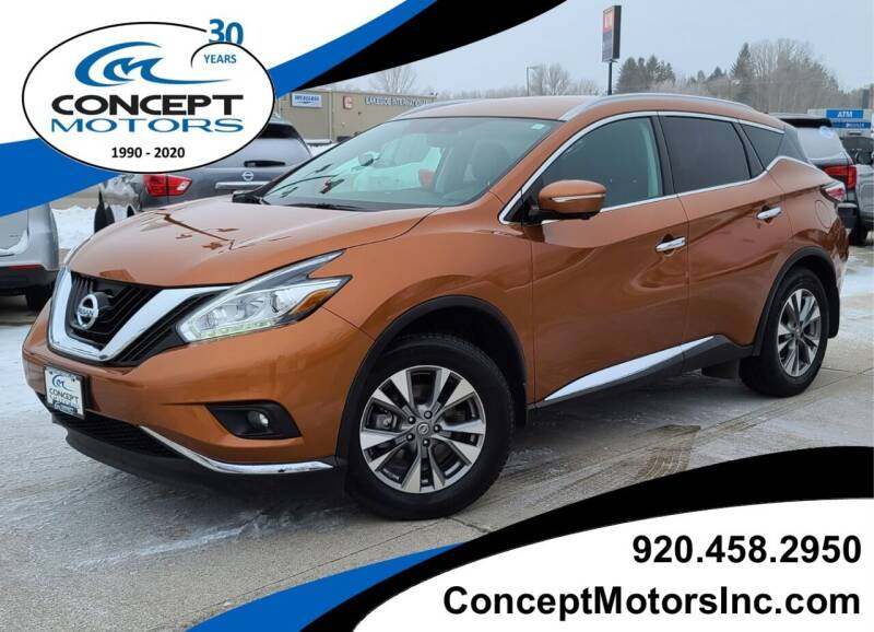 2015 Nissan Murano for sale at CONCEPT MOTORS INC in Sheboygan WI