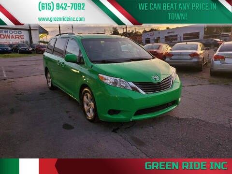 2013 Toyota Sienna for sale at Green Ride Inc in Nashville TN