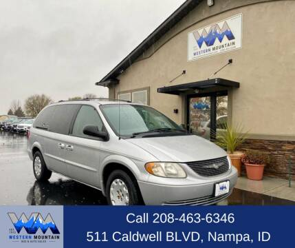 2001 Chrysler Town and Country for sale at Western Mountain Bus & Auto Sales in Nampa ID