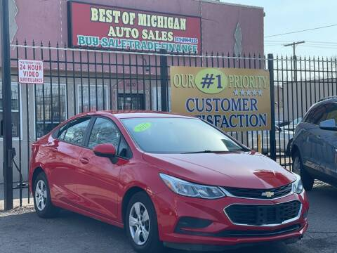 2017 Chevrolet Cruze for sale at Best of Michigan Auto Sales in Detroit MI