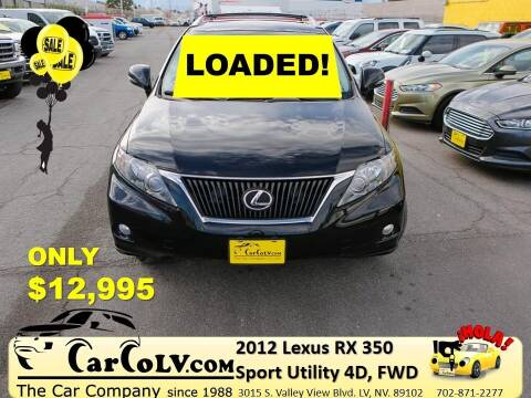 2012 Lexus RX 350 for sale at The Car Company in Las Vegas NV