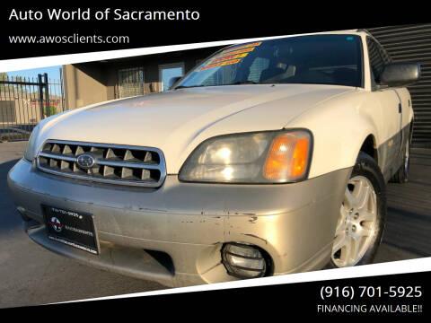 2000 Subaru Outback for sale at Auto World of Sacramento Stockton Blvd in Sacramento CA