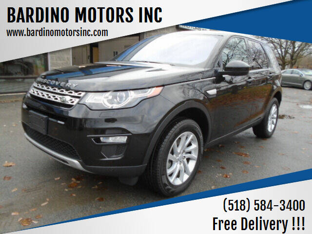 2018 Land Rover Discovery Sport for sale at BARDINO MOTORS INC in Saratoga Springs NY