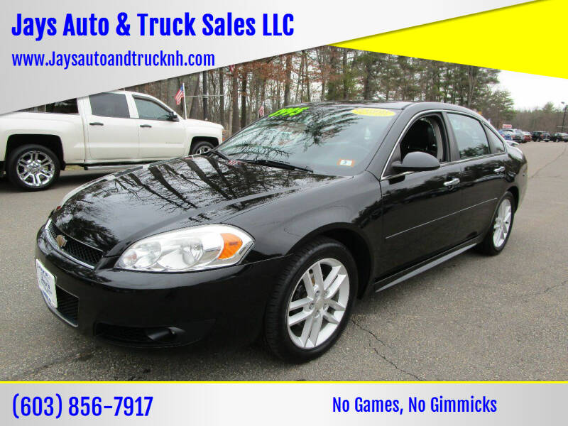 2013 Chevrolet Impala for sale at Jays Auto & Truck Sales LLC in Loudon NH