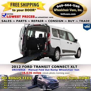 2012 Ford Transit Connect for sale at Wheelchair Vans Inc - New and Used in Laguna Hills CA