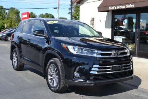 2017 Toyota Highlander for sale at Nick's Motor Sales LLC in Kalkaska MI