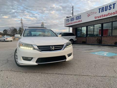 2013 Honda Accord for sale at Trust Autos, LLC in Decatur GA