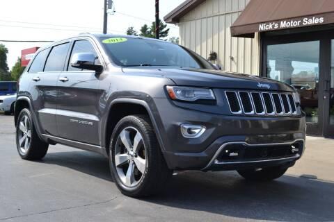 2014 Jeep Grand Cherokee for sale at Nick's Motor Sales LLC in Kalkaska MI