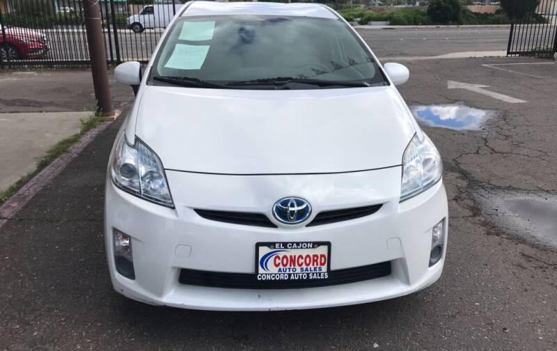 2010 Toyota Prius for sale at Concord Auto Sales in El Cajon CA