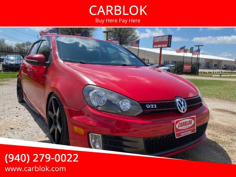 2012 Volkswagen GTI for sale at CARBLOK in Lewisville TX