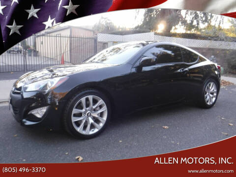 2014 Hyundai Genesis Coupe for sale at Allen Motors, Inc. in Thousand Oaks CA
