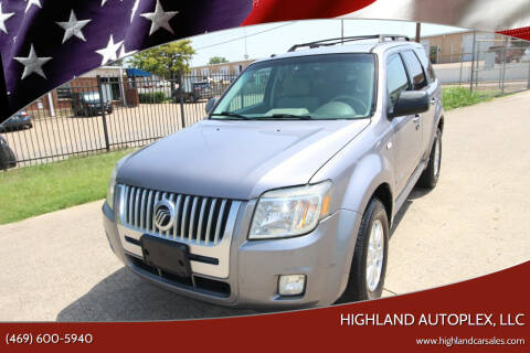 2008 Mercury Mariner for sale at Highland Autoplex, LLC in Dallas TX