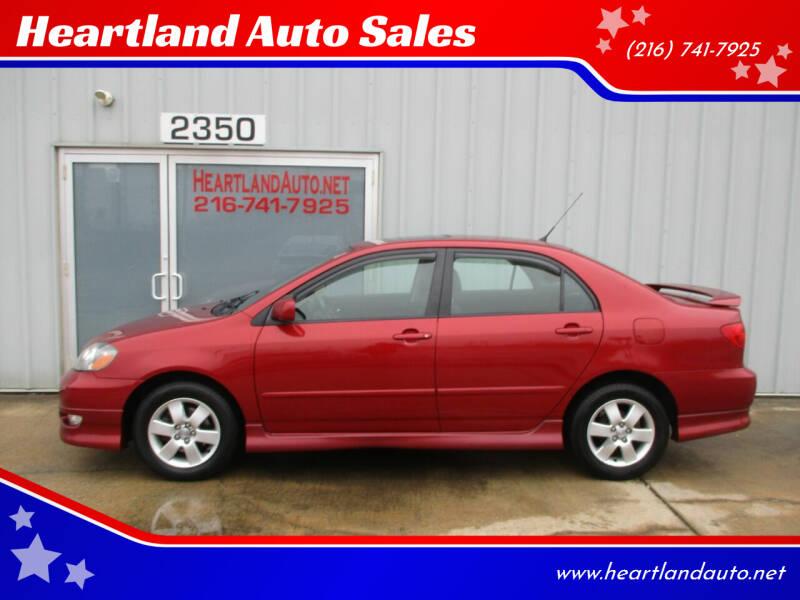 2007 Toyota Corolla for sale at Heartland Auto Sales in Medina OH