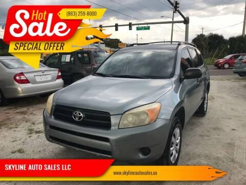 2008 Toyota RAV4 for sale at SKYLINE AUTO SALES LLC in Winter Haven FL