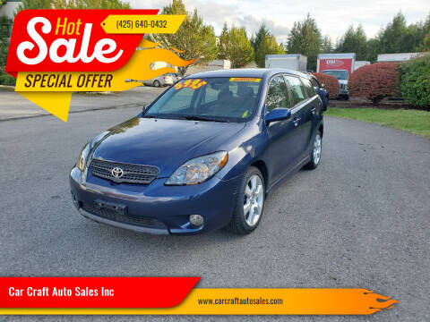 2007 Toyota Matrix for sale at Car Craft Auto Sales Inc in Lynnwood WA