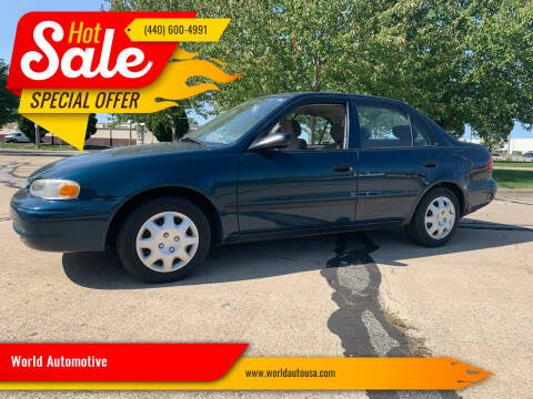 1999 Chevrolet Prizm for sale at World Automotive in Euclid OH
