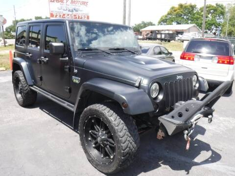 2012 Jeep Wrangler Unlimited for sale at LEGACY MOTORS INC in New Port Richey FL