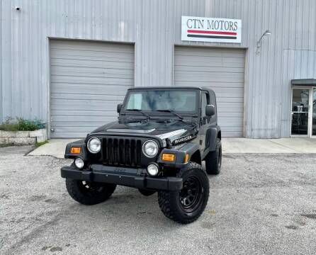 2003 Jeep Wrangler for sale at CTN MOTORS in Houston TX