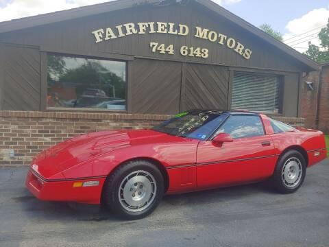 1986 Chevrolet Corvette for sale at Fairfield Motors in Fort Wayne IN