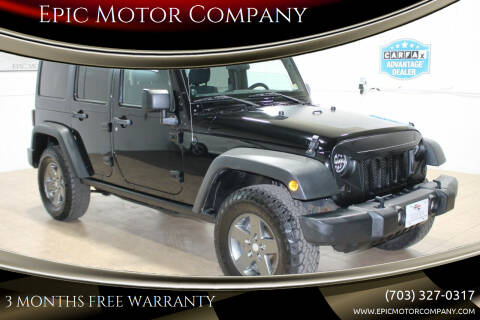 2011 Jeep Wrangler Unlimited for sale at Epic Motor Company in Chantilly VA