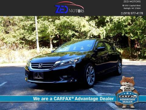 2015 Honda Accord for sale at Zed Motors in Raleigh NC
