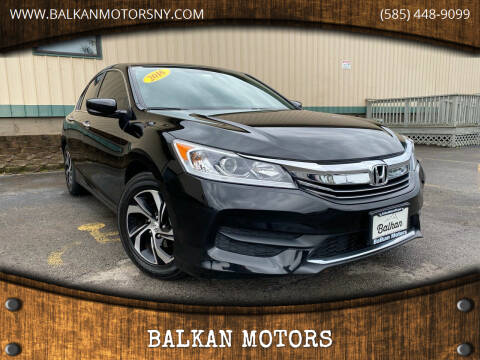 2016 Honda Accord for sale at BALKAN MOTORS in East Rochester NY
