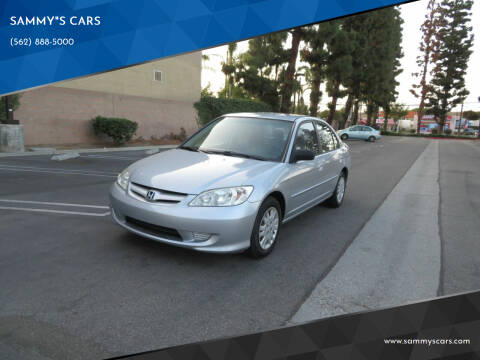 "2005 Honda Civic for sale at SAMMY""S CARS in Bellflower CA"