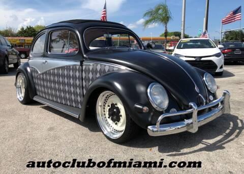 1956 Volkswagen Beetle for sale at AUTO CLUB OF MIAMI in Miami FL