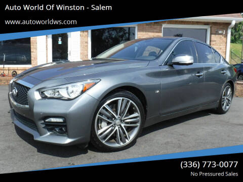 2015 Infiniti Q50 for sale at Auto World Of Winston - Salem in Winston Salem NC