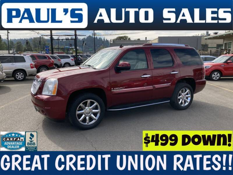 2008 GMC Yukon for sale at Paul's Auto Sales in Eugene OR