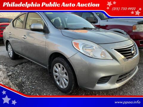 2012 Nissan Versa for sale at Philadelphia Public Auto Auction in Philadelphia PA
