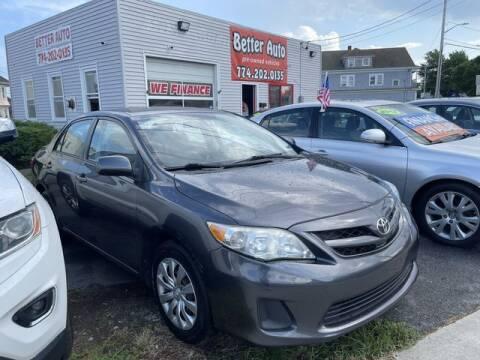 2012 Toyota Corolla for sale at Better Auto in Dartmouth MA