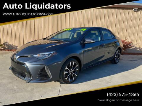 2018 Toyota Corolla for sale at Auto Liquidators in Bluff City TN