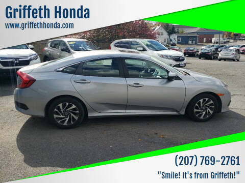 2016 Honda Civic for sale at Griffeth Honda - Pre Owned in Presque Isle ME