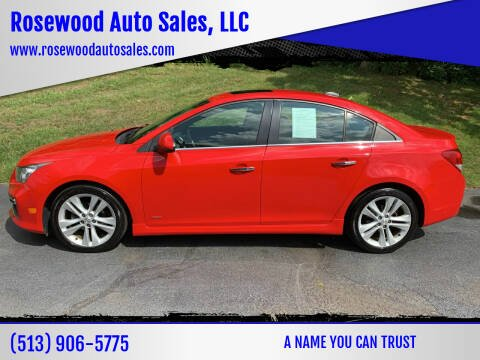 2015 Chevrolet Cruze for sale at Rosewood Auto Sales, LLC in Hamilton OH