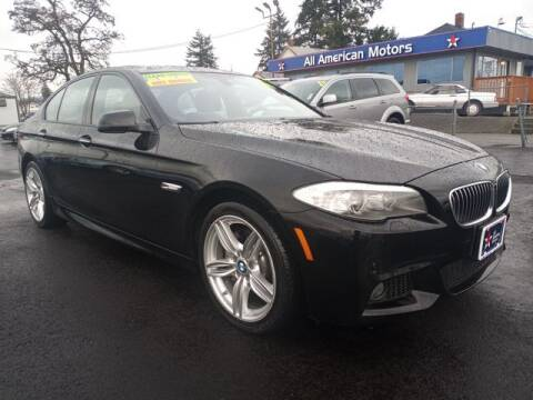 2013 BMW 5 Series for sale at All American Motors in Tacoma WA