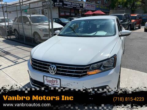 2016 Volkswagen Passat for sale at Vanbro Motors Inc in Staten Island NY